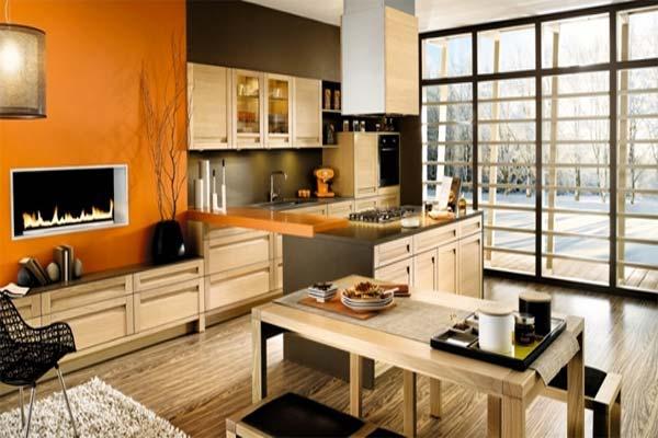House Designs Orange Kitchens Color Schemes